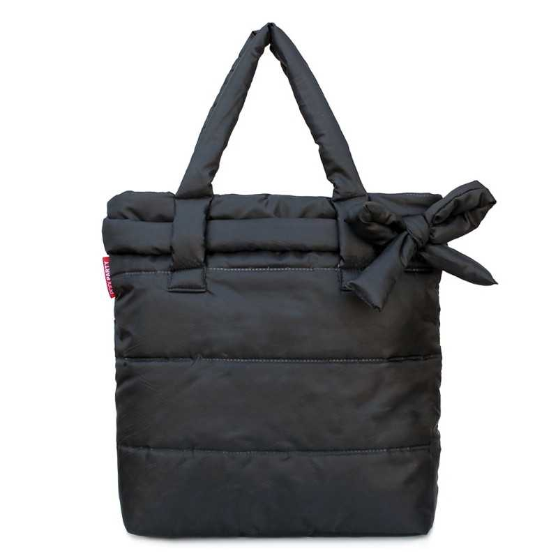 Стеганая дутая сумка pool Black Bow