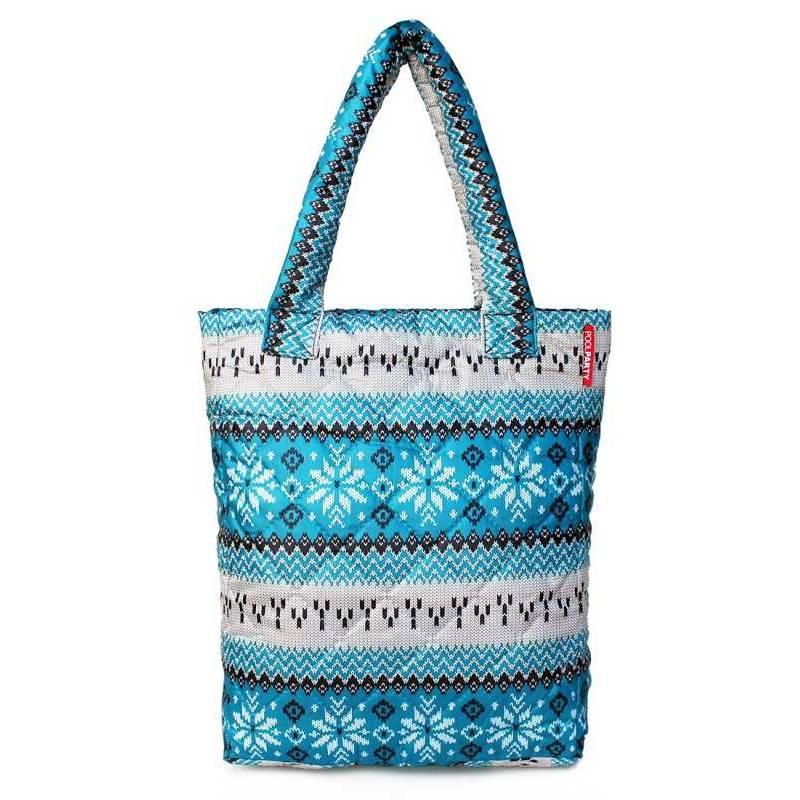 Стеганая сумка с орнаментом PP10 Blue