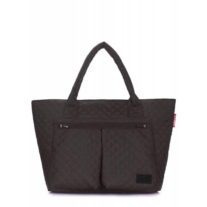 Стеганая сумка POOLPARTY Future Black