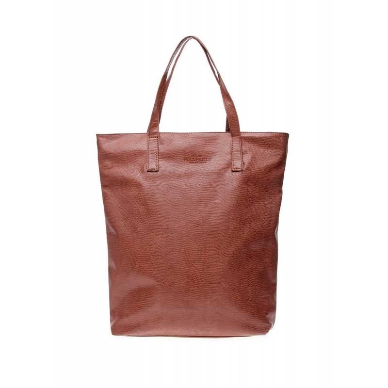 Женская кожзам сумка под змею Tulip SNAKE brown