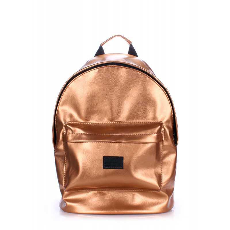 Женский рюкзак из кожзама POOLPARTY PU Gold
