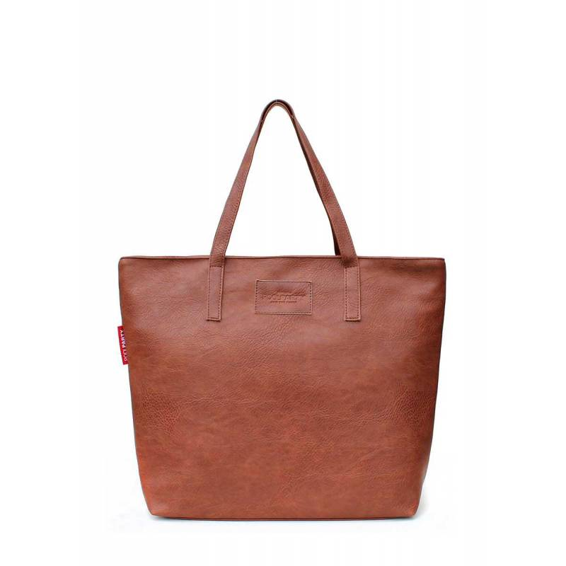 Женская кожзам сумка Pool88 Brown PU