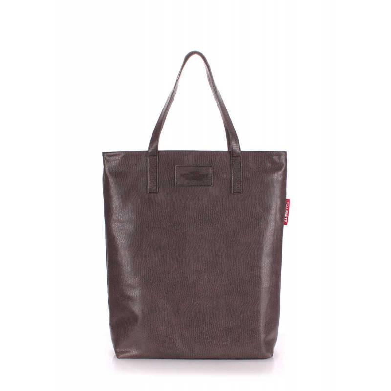 Женская кожзам сумка на плече TULIP coffee