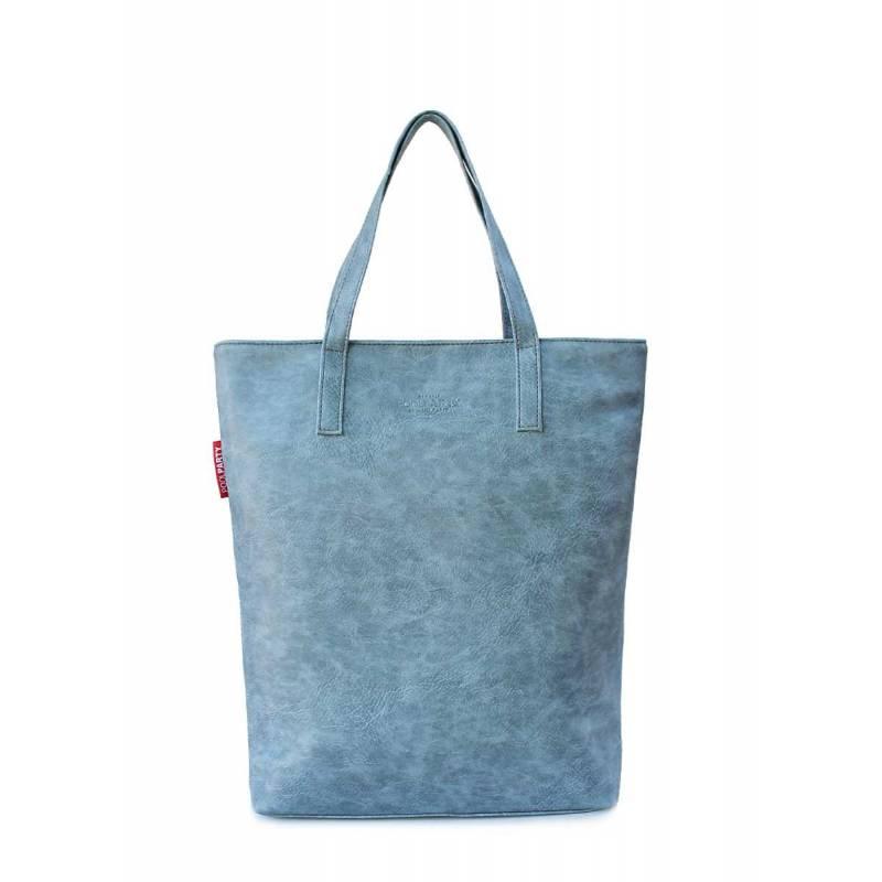 Женская кожзам сумка на плече TULIP grey