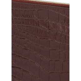 Кожаная сумочка-клатч POOLPARTY 2D Amphibia Brown