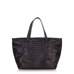 Сумка из кожзама Morocco croco black