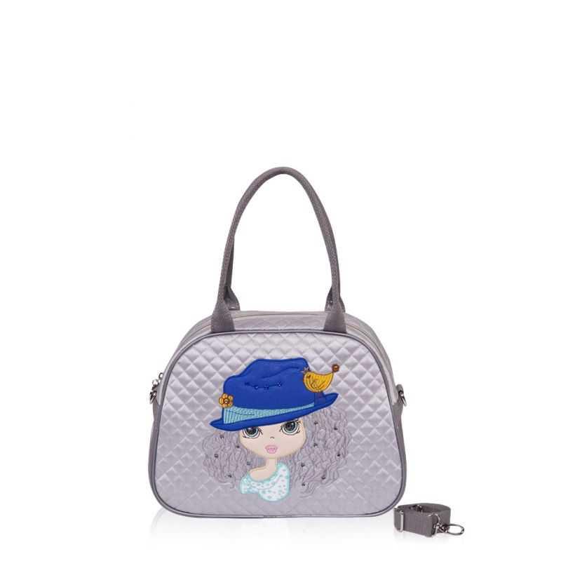Детская сумка-саквояж Alba Soboni 0323 grey
