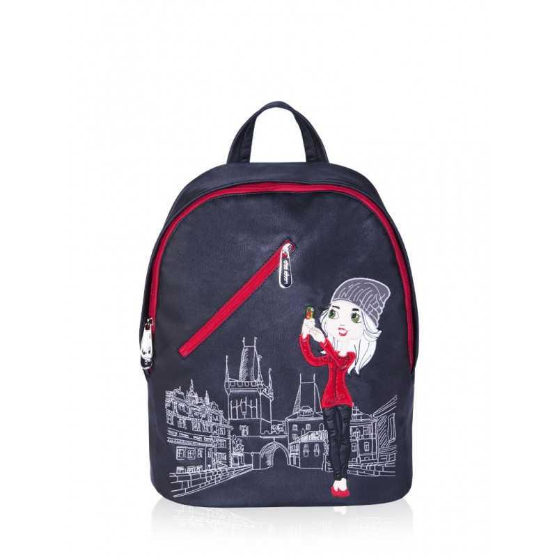 Молодежный рюкзак Alba Soboni 161230 black-red
