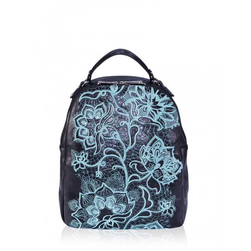 Молодежный рюкзак Alba Soboni 161422 black turquoise