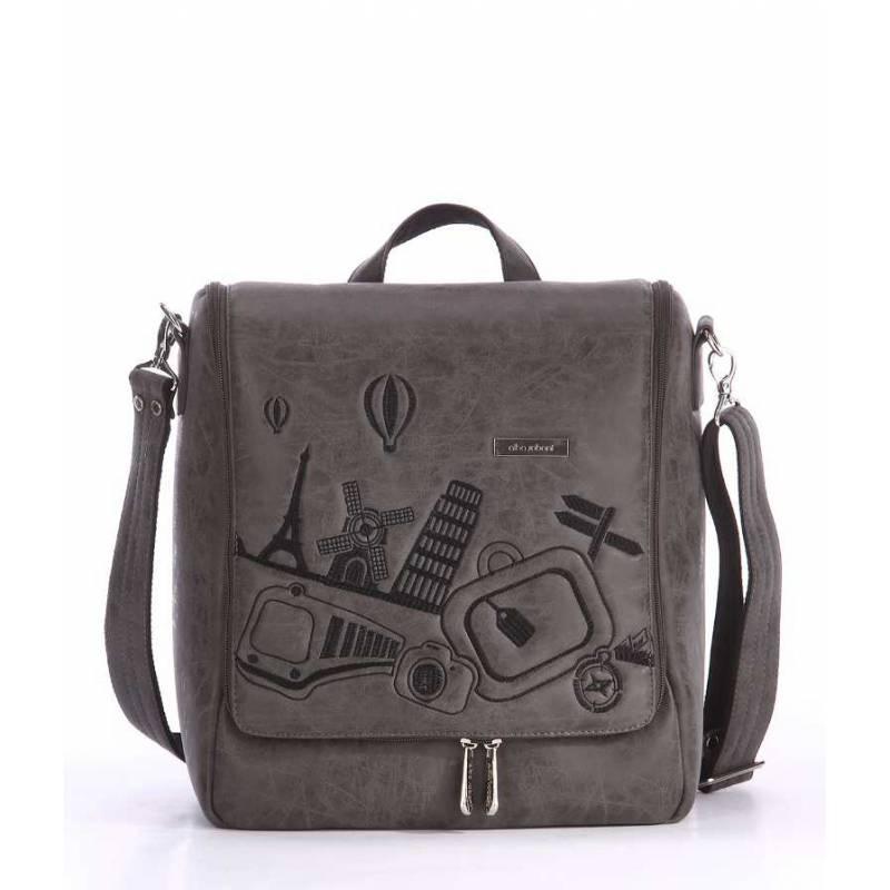 Дорожная сумка-мессенджер Alba Soboni 162826 grey