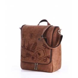 Дорожная сумка-мессенджер Alba Soboni 162827 brown