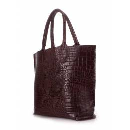 Кожаная сумка POOLPARTY Amphibia Brown