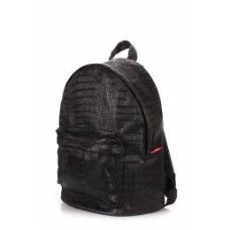 Рюкзак женский POOLPARTY Croco Black