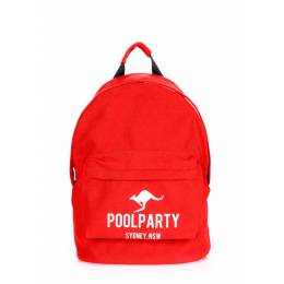 Молодежный рюкзак Poolparty Kangaroo Red