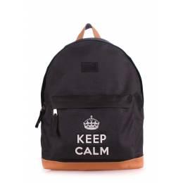 Рюкзак молодежный POOLPARTY Keepcalm Black