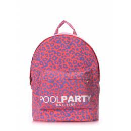 Молодежный рюкзак Poolparty Leo Pink
