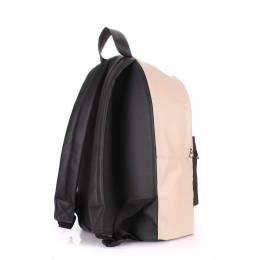 Рюкзак женский POOLPARTY PU Beige Black