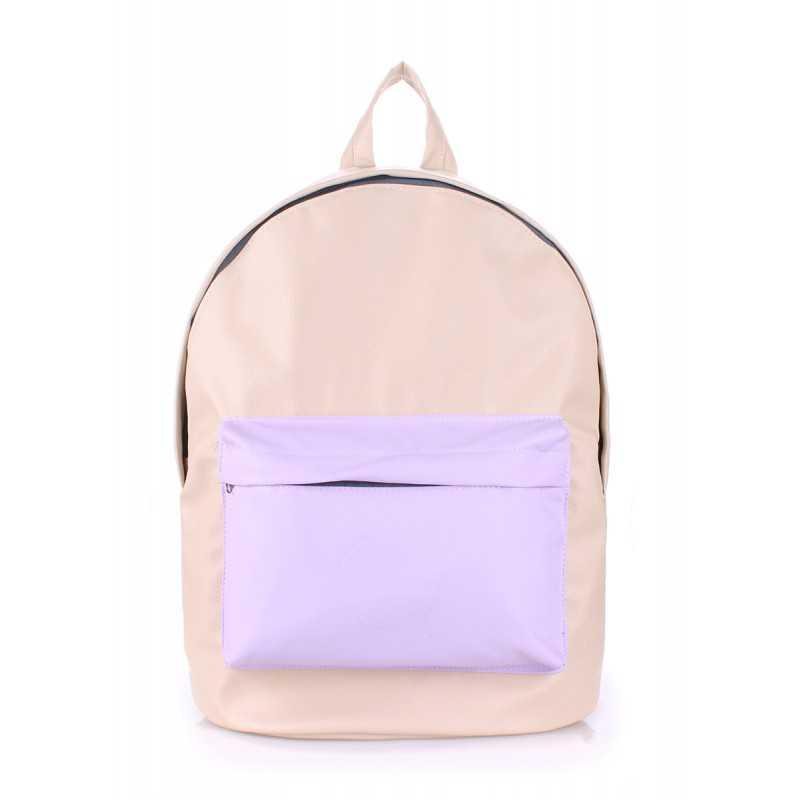 Рюкзак женский POOLPARTY PU Beige Lilac