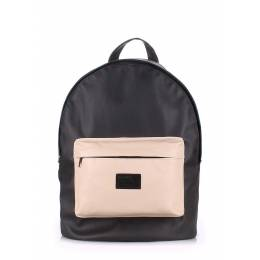 Рюкзак женский POOLPARTY PU Black Beige