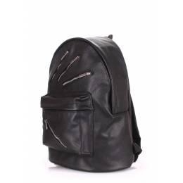 Кожаный рюкзак POOLPARTY Rockstar Black