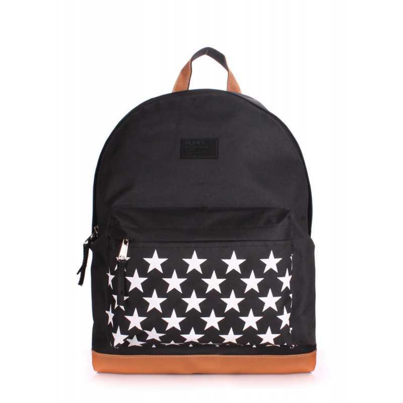 Рюкзак молодежный POOLPARTY Stars Black