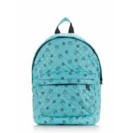 Стеганый рюкзак Poolparty с уточками на синтепоне Theone Blue Ducks