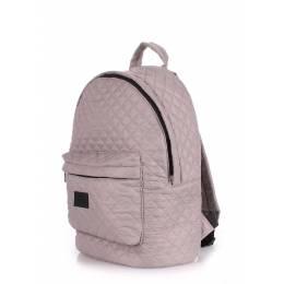 Стеганый рюкзак Poolparty на синтепоне Backpack Theone Grey