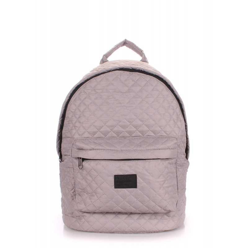 Стеганый рюкзак Poolparty на синтепоне Backpack Theone Grey