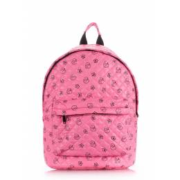 Стеганый рюкзак Poolparty с уточками на синтепоне Backpack Theone Pink Ducks