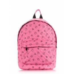 Стеганый рюкзак Poolparty с уточками на синтепоне Backpack Theone Pink Ducks