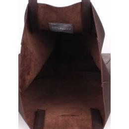 Кожаная сумка POOLPARTY City Brown