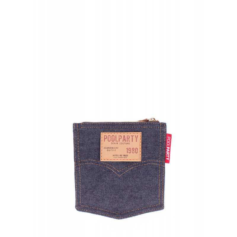 Джинсовая косметичка POOLPARTY Pocket Cosmetic Pocket Jeans