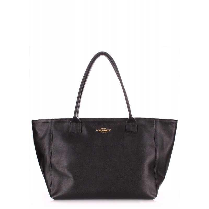 Кожаная сумка POOLPARTY Desire Safyan Black