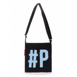 Коттоновая сумка POOLPARTY Detroit Black Blue