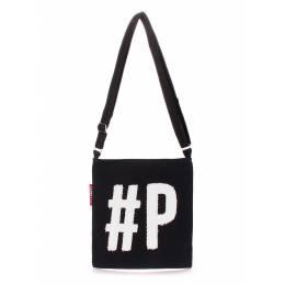 Коттоновая сумка POOLPARTY Detroit Black White
