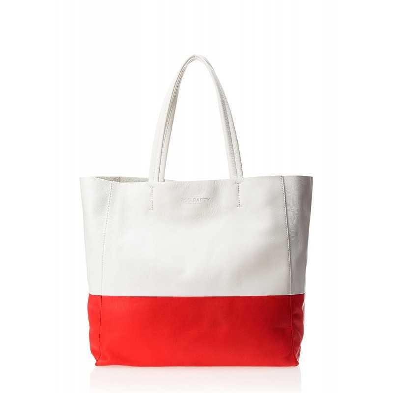 Кожаная сумка POOLPARTY Devine White Red