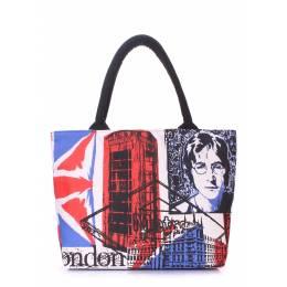 Коттоновая сумка POOLPARTY с принтом Britain