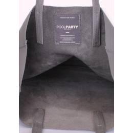 Кожаная сумка City Grey
