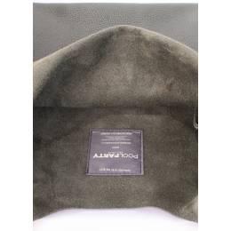 Кожаная сумка POOLPARTY Leather Tote khaki