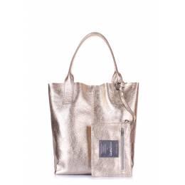 Женская кожаная сумка PODIUM Gold