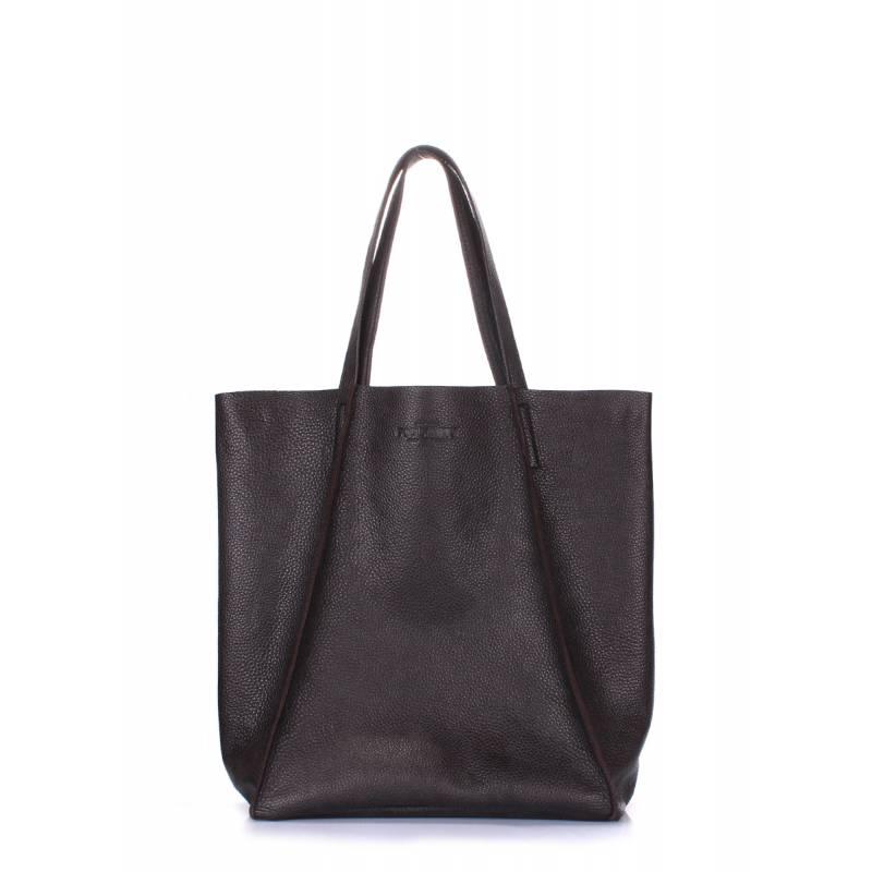 Кожаная сумка POOLPARTY Edge Brown