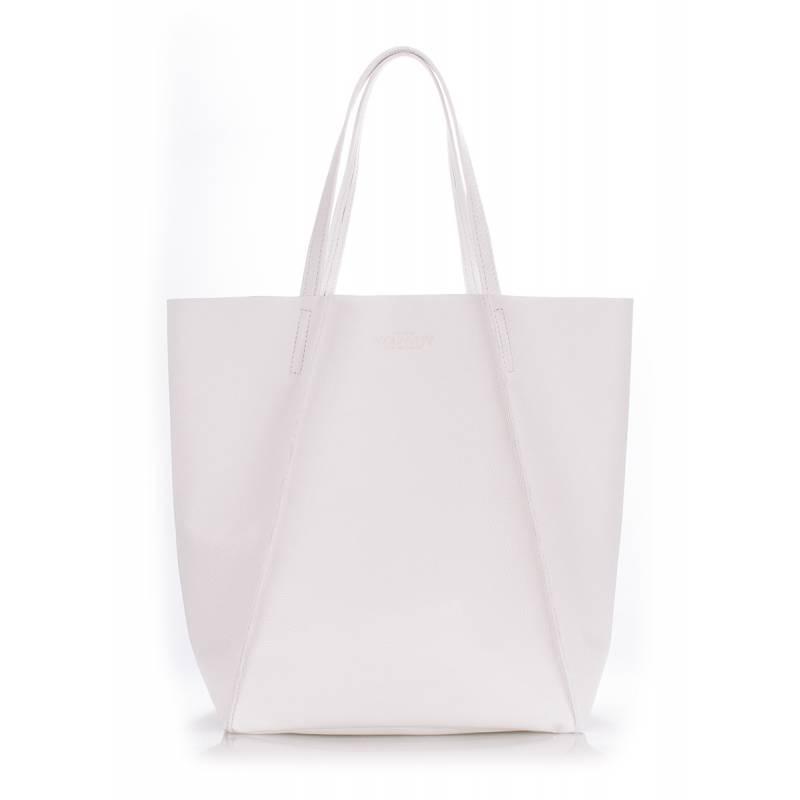 Кожаная сумка POOLPARTY Edge White