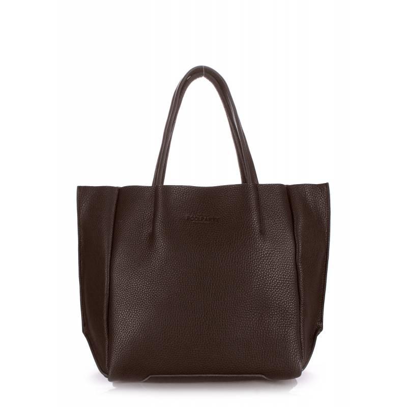 Кожаная сумка POOLPARTY Soho Brown
