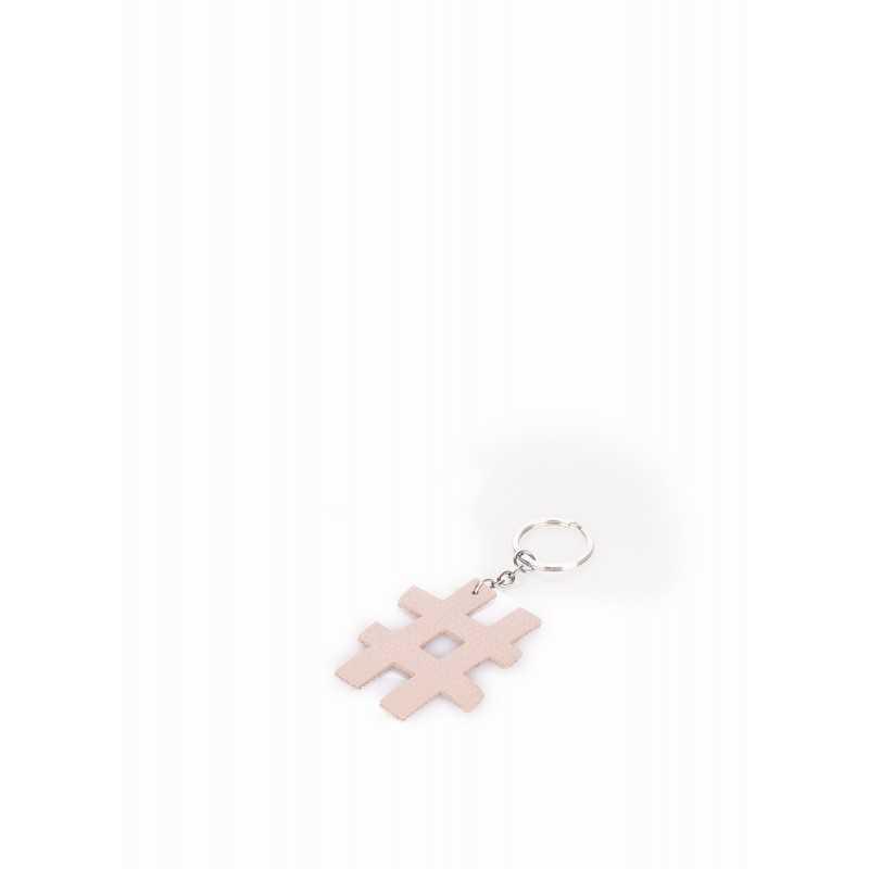 Кожаный брелок для ключей POOLPARTY Keychain Hashtag