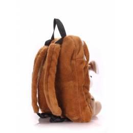 Детский рюкзак POOLPARTY с собакой Kiddy Backpack Dog Brown
