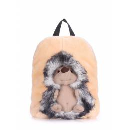 Детский рюкзак POOLPARTY с ежиком Kiddy Backpack Hedge Grey