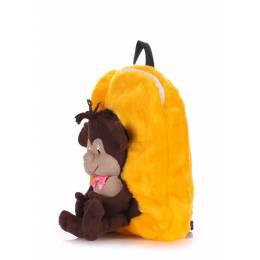 Детский рюкзак POOLPARTY с обезьяной Kiddy Backpack Monkey Sunny