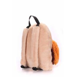 Детский рюкзак POOLPARTY с зайцем Kiddy Backpack Rabbit Brown