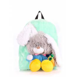 Детский рюкзак POOLPARTY с зайцем Kiddy Backpack Rabbit Green