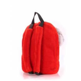 Детский рюкзак POOLPARTY с зайцем Kiddy Backpack Rabbit Red